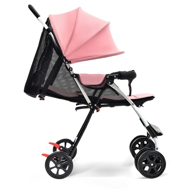 High Quality, Ultra-light / Fold / Baby Cart, Can Sit / Lie / Dual / Trolley (pink) - intl Singapore