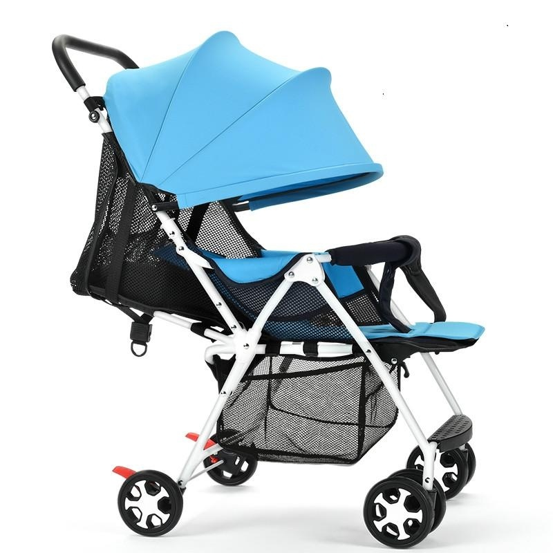 High Quality, Ultra Light / Fold / Baby Trolley, Can Sit / Can Lie / Dual / Trolley (blue) - intl Singapore