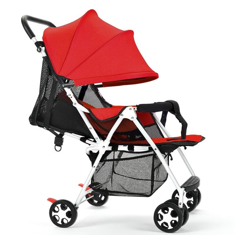 High Quality, Ultra-light / Folding / Stroller, Can Sit / Lie / Dual / Trolley (red) - intl Singapore