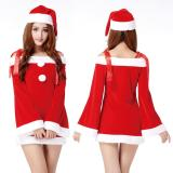 Hot Christmas Party Dress Women Gift S*xy Skirt Christmas Hat Ladies Hollween Santa Claus Costumes Cheap