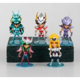 Hot New 10Cm 5Pcs Set Q Version Saint Seiya Pvc Action Figure Toys Christmas Gift Intl In Stock