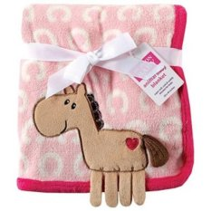 New Hudson Baby Coral Fleece 3 D Animal Blanket Pink