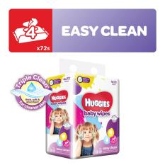 Deals For Huggies Easy Clean Baby Wipes 72S X 4