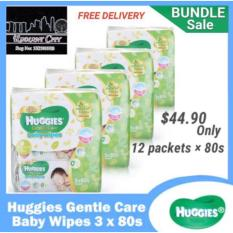 Retail Price Huggies Gentle Care Baby Wipes 12 X 80 Sheets