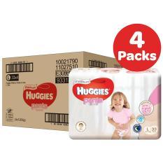 Price Huggies Platinum Pants Carton Girls Size L 33 X 4 Packs Huggies New