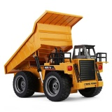 Sale Huina 1540 1 12 2 4G 6Ch Rc Alloy Dump Truck Auto Demonstration Function Yellow Intl Oem Original