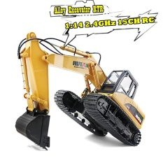 Cheap Huina 1550 1 14 2 4Ghz 15Ch Rc Alloy Excavator Rtr With Independent Arms Programming Auto Demonstration Function Remote Control Toys Car Intl Online