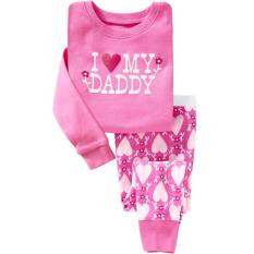 Best Deal I Love My Daddy Pyjama Set Pink