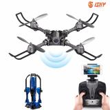 Promo Idrone Foldable Selfie Drone Professional Racing Rc Helicopter Fpv Drone With Camera Hd Remote Controler Blue Export