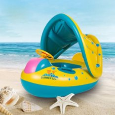 Inflatable Toddler Baby Swim Ring Float Kid Swimming Pool Water Seat With Canopy Summer Pool Beach Toys Intl On China