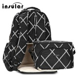 Who Sells Insular 2Pcs Mummy Maternity Baby Nappy Diaper Backpack Food Lunch Bag Black Intl Cheap