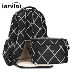 Insular 2Pcs Mummy Maternity Baby Nappy Diaper Backpack Food Lunch Bag Black Intl Price