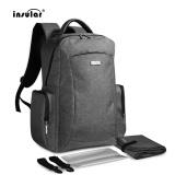 Deals For Insular Multifunctional Double Shoulder Bag Mummy Bag Nylon Baby Diaper Bag Grey Intl