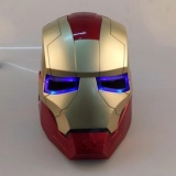 Low Price Iron Man Iron Man Helmet Mask Can Open Eyes Can Shine Champagne Gold Optional Intl