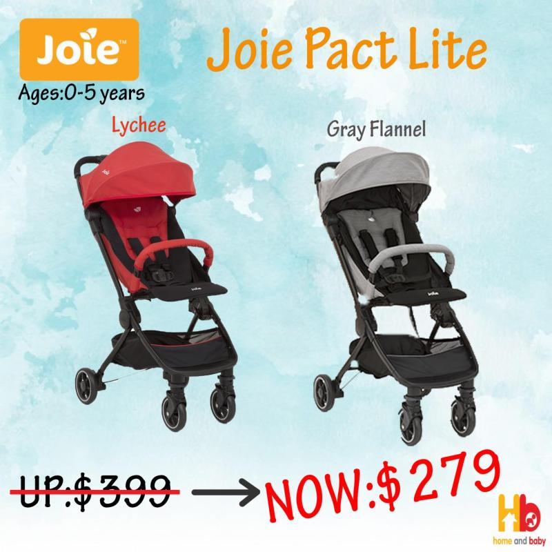 Joie PACT LITE w/ RC & TB (GRAY FLANNEL/LYCHEE) Singapore