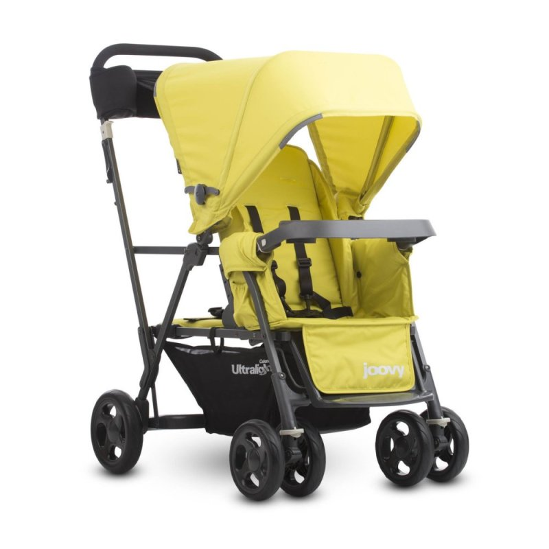 Joovy Cabooe Ultralight Graphite (Citron) - Double Stand-On Tandem Stroller Singapore