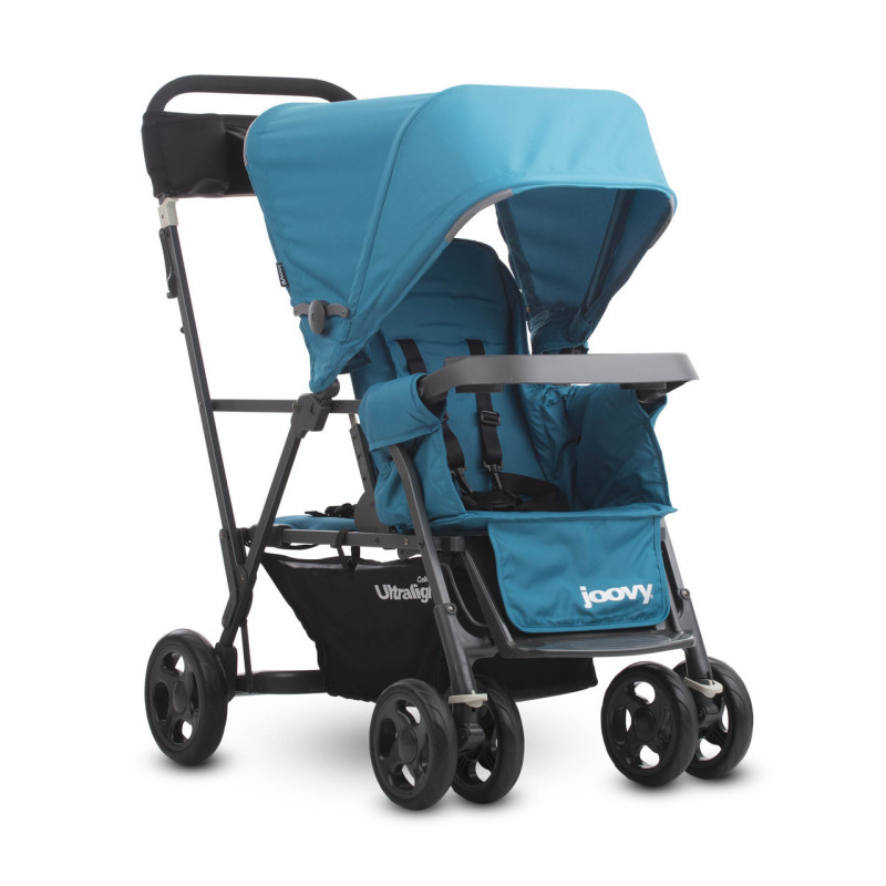 Joovy Cabooe Ultralight Graphite (Turq) - Double Stand-On Tandem Stroller Singapore