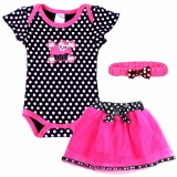 Compare Prices For Js 6 18Month Infant Baby Girls Summer Bodysuit Polka Dots Romper Dress Skirt Head Band 3Pcs Set Clothing Set P003 Black Intl