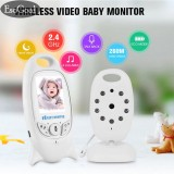 Jvgood Video Baby Monitor 2 4G Portable Digital Audio Two Way Talk Night Vision Temperature Monitoring System 2 Display For Baby Safety Review