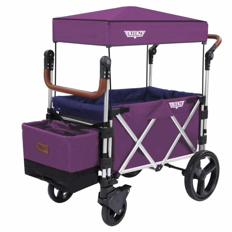 Keenz 7S Premium Deluxe Foldable Wagon-Stroller (Purple Magic / Royal Blue) - Designed and Engineered in Korea Singapore