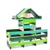 Sale Kid Wooden Cool Colour High Precision Stacking Blocks Intl Oem