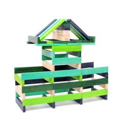 Kid Wooden Cool Colour High Precision Stacking Blocks Intl Price