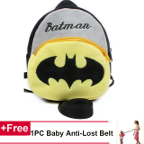 Cheaper Toddler Preschool Backpack Leash Child Boys Girls Safety Harness Superman Batman Kindergarten Backpack Intl