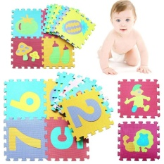 Kids Baby EVA Foam Floor Puzzle Play Mat Interlocking Cartoon Crawling Play Pad - intl