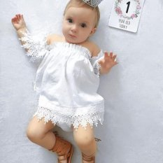Buy Kids Baby Girls Clothes Lace Dress Off Shoulder Party Dress Sundress Intl Cheap China