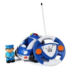 Kids Cartoon Police Car With Music And Lights Electric Remote Control Toy Car For Kids Over 3 Years Old - Intl By Stoneky.