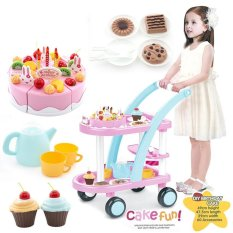 Kids Children Shopping Cart Food Play Shopping Cart Toy Pink Birthday Cake Baby Cosplay Intl Shopping