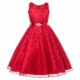 Buying Kids Girls Lace Sleeveless Elegant Princess Birthday Party Dress Intl