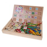 Compare Prices For Kids Learning Wooden Toy Box Math Numbers Stickers Early Learning Toys