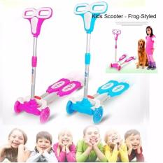 Buy Kids Scooter Foldable Frog Style Kids Scooter Suitable For Children 80Cm 160Cm Blue Cheap Singapore