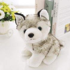 Buy Kids Toys Cute Simulation Soft Plush Stuffed Animal Toys Dolls Puppy Dog Storm Sitting Husky Doll Toy For Children S Birthday Christmas Presents Gifts Height 18Cm Intl On China