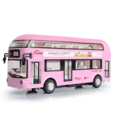 Kids Toys London Double Decker Bus Alloy Sightseeing Bus Model Pull Back With Sound And Light Gift For Children Intl Oem Cheap On Hong Kong Sar China