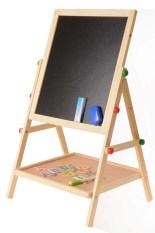 Brand New Kids Wooden 2 In 1 Adjustable Blackboard Whiteboard Double Sided Drawing Writing Board Easel