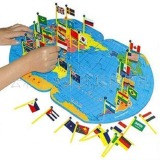 Who Sells Kidss Wooden World Map Flag Matching Puzzle Geography Educational Toy Cheap