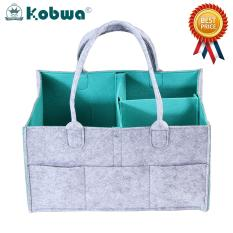 Kobwa Baby Diaper Caddy Organizer - Nursery Storage Bin For Diapers, Baby Wipes, Kid Toys Portable Storage Basket For Car Travel Changing Table Organizer Baby Shower Gift Newborn Registry Must Haves - Intl By Kobwa Direct.