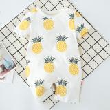 Buy Kor093 Baby Toddler Girls Boys Unisex Pineapple Shortalls Romper Cheap On Singapore