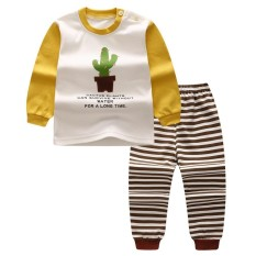 Purchase Lalang Baby Pyjamas Sets Long Sleeve Top Pants Children Underwear Boys Girls Sleepwear Suit Intl Online