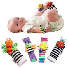 Lamaze 4 Pcs New Baby Infant Foot Socks Rattles Wrist Rattles Multicolor By Rhs Online.