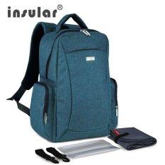 Sale Lan Store Premium Quality Mummy Bag Insular Multifunctional Large Capacity Baby Diaper Bag Backpack Mummy Bag Nappy Bag Backpack Include Plastic Napkin Box Intl