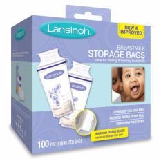 Lansinoh Breastmilk Storage Bags, 100 Count, Bpa Free And Bps Free (packaging May Vary) By Babybloom.