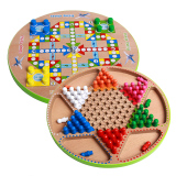 Price Comparisons Wooden Desktop Chess Game Toys Hexagonal Checkers