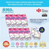 Compare Price Lec 99 9 Pure Water Ss263X8 Hello Kitty Portable Wet Wipes Bundle 16X30 S Lec On Singapore