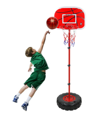 Leegoal Childrens Height Adjustable Portable Basketball System - 1.7m By Leegoal.