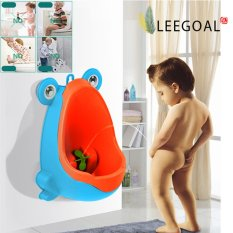 Leegoal Cute Frog Children Toilet Potty Toilet Training Urinal For Boys Kids Toddler Pee Trainer Bathroom With Funny Aiming Target(blue) - Intl By Leegoal.