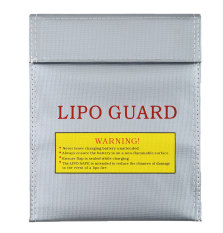 Leegoal Large Lipo Guard Battery Fireproof Safe Safety Charge Charging Pouch Case (silver, Small) (intl) - Intl By Leegoal.