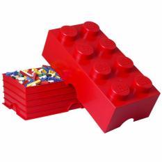 Lowest Price Lego Storage Brick 8 Red